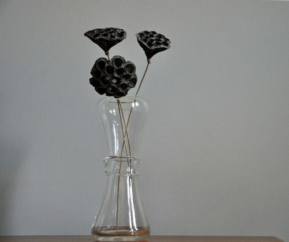 Mid Century Modern  Clear  Glass Vase
