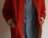 Vintage Red Ralph Lauren Denim Corduroy Jacket