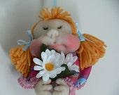 Handmade minaiture nylon baby doll 5''