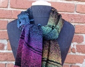 Rainbow on Black scarf