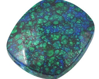 095- Acrylic Beads, Rectangle, RoyalBlue and Green, about 30mm long, 26mm wide,
