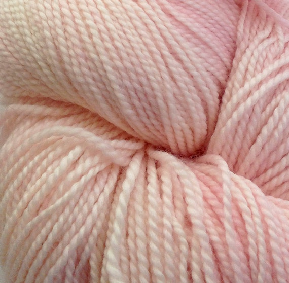 RESERVED for CVH- Please Do Not Purchase- Pink Wool Skein- Washable DK Weight Merino