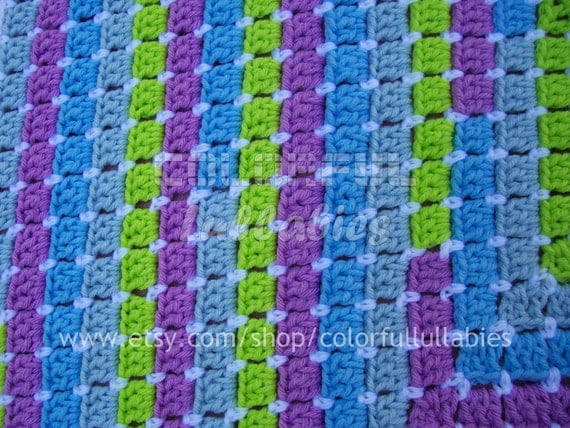PDF Crochet Pattern. MAGIC: Blanket with numbers. Available in English and Spanish