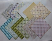 12 SHEETS OF SCRAPBOOKPAPER - doublesided