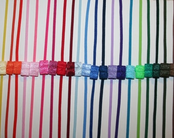 Choose 5 - Skinny 1/8 Inch Elastic Headbands - Interchangeable - Great Alone or With a Hair Bow - LOTS of COLORS - Ships IMMEDIATELY