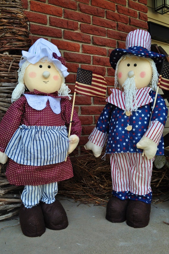 Fourth of July Dolls, Set of 2