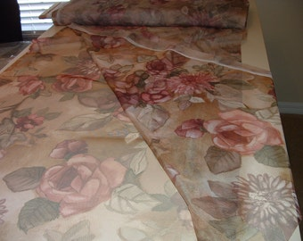 Stretchable Sheer Flower Material