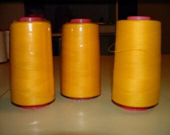 Serger Thread - 100% Spun Polyester - Yellow