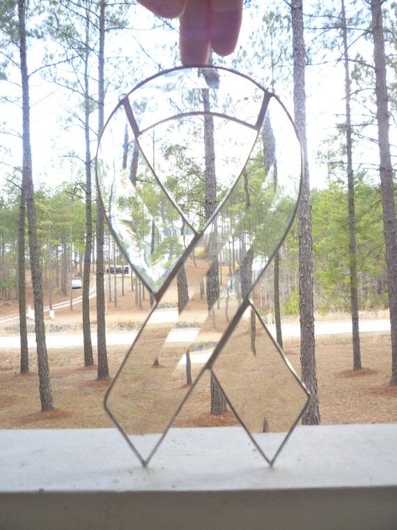 Beveled Glass Appreciation Ribbon Suncatcher
