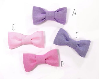Men Dark purple, Purple, Pink and Raspberry bowtie Baby, toddler boys tie Kids Bow Tie Choose One
