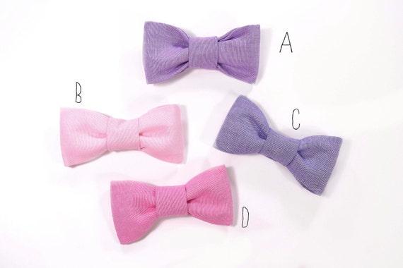 Men Dark purple, Purple, Pink and Raspberry bowtie Baby, toddler boys tie Kids Bow Tie Choose One