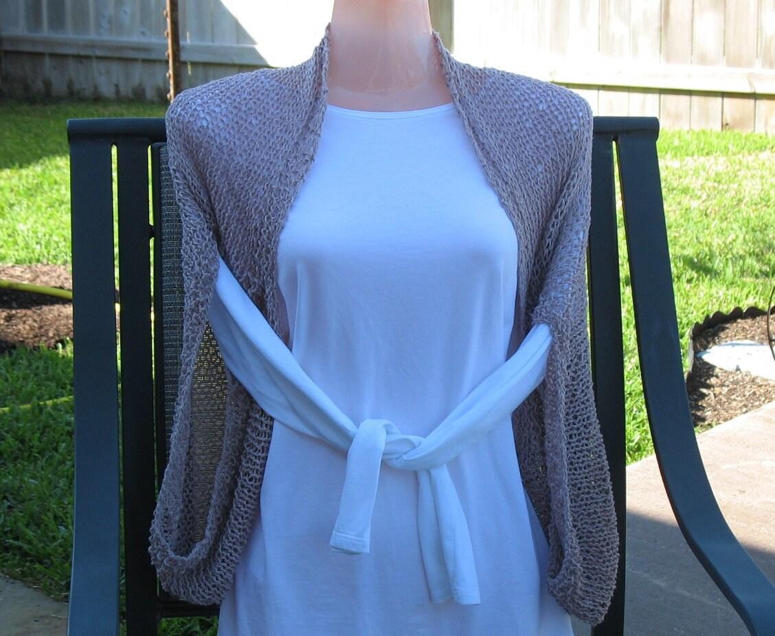 Knitting Pattern For Kimono Wrap : Knit Shrug Bolero Kimono Sleeve Sweater Shoulder Wrap Knit