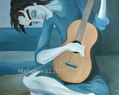 The Young Guitarist - Signed Art Print