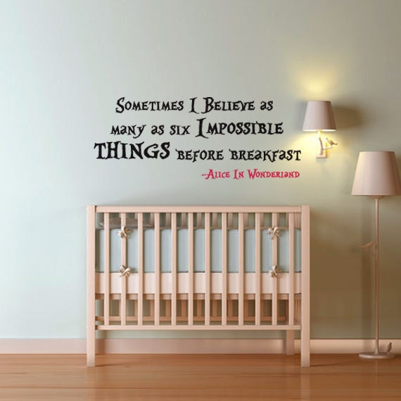 Alice In Wonderland Wall Quote Decal