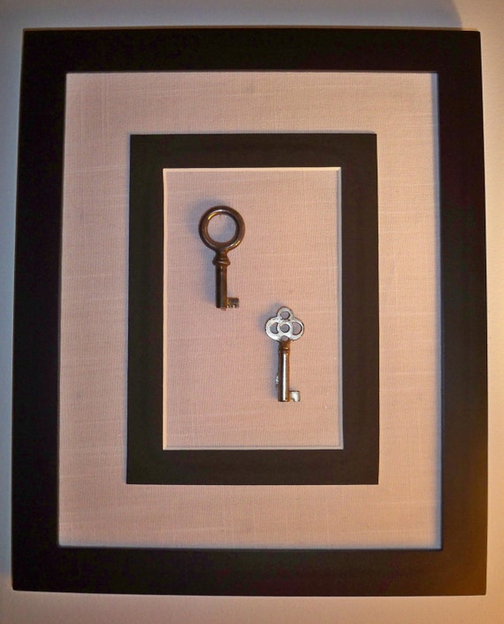 Small Key Wall Decor : Small antique keys home wall art unique one of a kind
