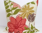 Pillow.Flowers.20x20 inch Decorator Pillow Cover.Free Shipping