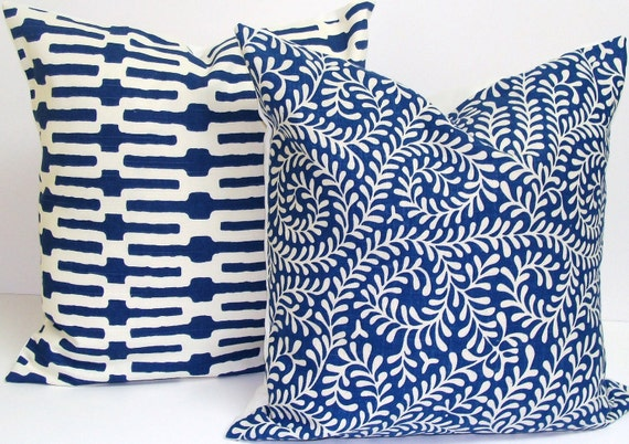 Blue Pillow Set.FREE SHIPPING.20x20 inch.Pillow Cover Set