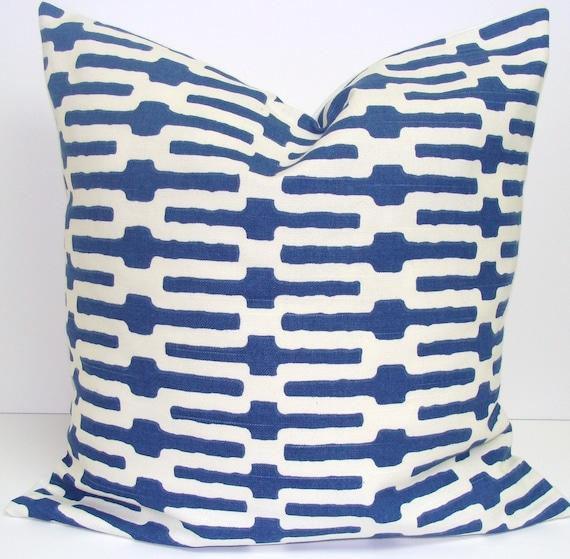 Pillow.Indigo.18x18 inch.Decorator Pillow Cover.Free Shipping