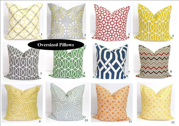 Large Pillows.Free SHIPPING.20x20 inch Designer Pillow Covers
