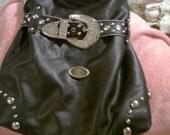 SALE....Dolce and Gabbana Inspired Handbag,hobo bag,black ,embellished,accessories,pocketbook,designer inspired
