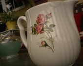 Vintage Rose Pitcher,Cottage,Cottage Chic,French Country,Shabby Chic