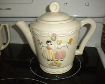 Vintage Ceramic Teapot,Cottage, Cottage chic,French Country,Country,Primitive,Shabby chic