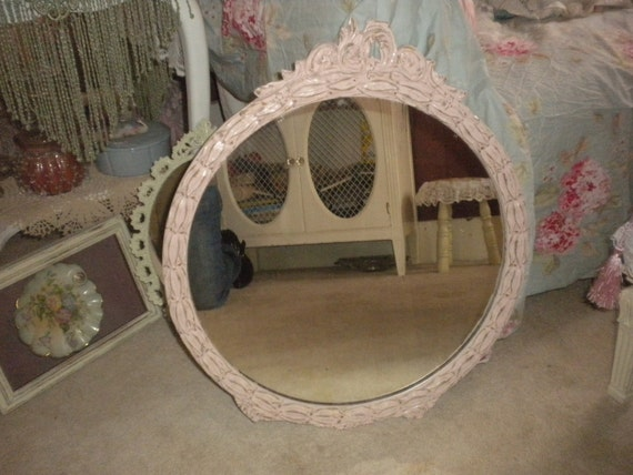 SALE....Shabby Chic/Cottage Vintage Upcycled Mirror,French country,Cottage,Cottage Chic,Victorian,Nursery
