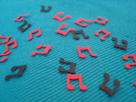 400 Hand Punched Music Note Confetti