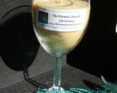 Chardonnay Scented Soy Candle in Wine Glass - theprismaticpeacock