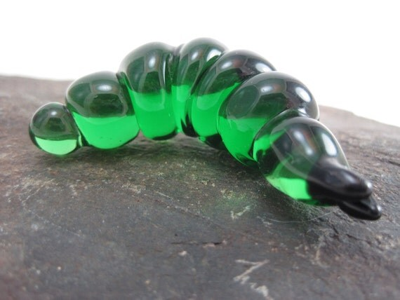 Glass Caterpillar Green