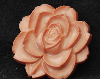 Vintage buckle Carved Rose  - Caramel