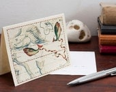 Zodiac Sign Pisces  Constellation Greeting Card