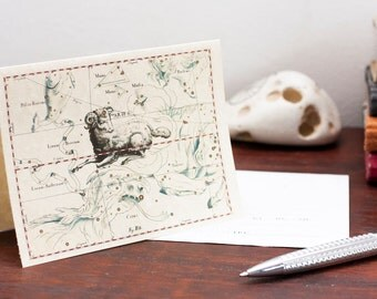 Zodiac Sign Aries Constellation Greeting card