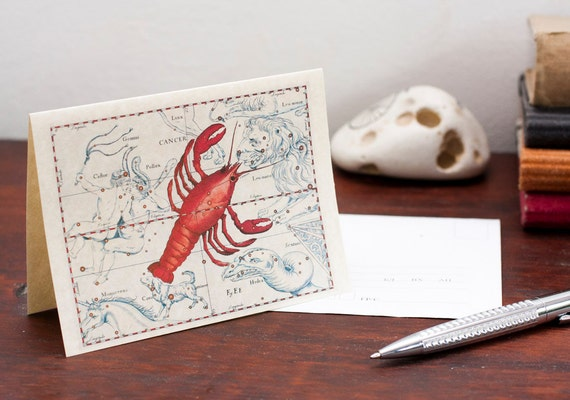 Zodiac Sign Cancer Constellation Greeting Card