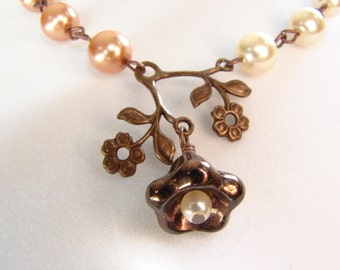 Chocolate Cappuccino Cream Brown Necklace : Free Shipping
