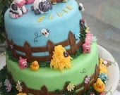 Animal Barnyard Cake Toppers