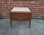 Vintage marble end table