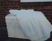 Vintage chenille twin bed spread