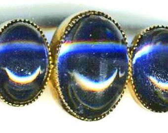 Bar Pin   7 Cobalt Cabachons   ITEM NO: 14806