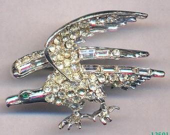 Rhinestone Eagle Brooch   Item No: 12501
