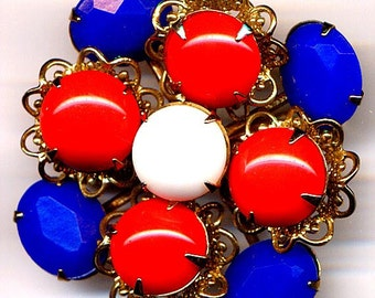 ON SALE Red, White and Blue Brooch   Item No: 2461