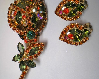 REDUCED 15%  DeLizza and Elster aka Juliana Fall Watermelon Flower Brooch  Item No: 15992
