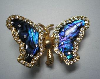 Blue Butterfly Trembler Brooch   Item No: 16247