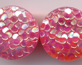 Pink Textured Glass Earrings   Item No: 12040