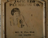 """1920's Old Hollywood """"jack leo plumbing co""""  8921 West Pico Blvd. Los Angeles"""