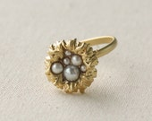 Bird nest gold adjustable ring