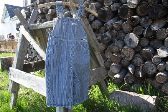 Vintage Farmer overalls / Dungarees / Train Engineer 12 -18 months