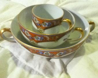 Noritake china. pattern Araby. 1921