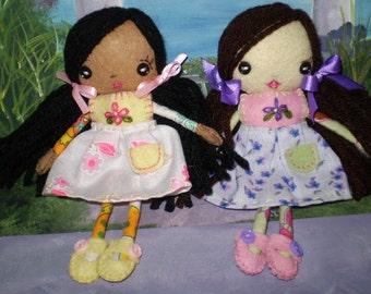 Skinny Mini Felt Doll Pattern Pdf
