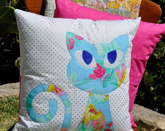 Ali's Cat Applique Cushion PDF pattern - instant download